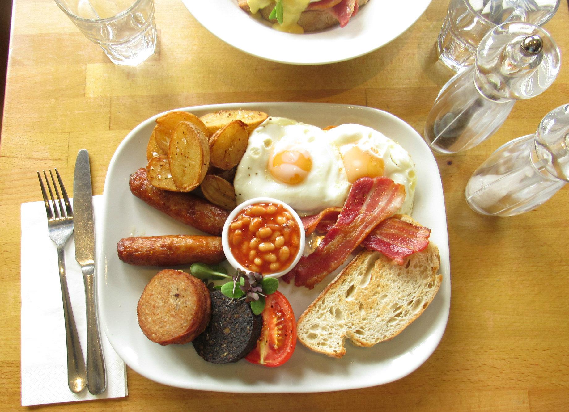 Full works breakfast at Twenty2